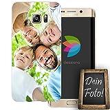dessana Eigenes Foto Transparente Silikon TPU Schutzhülle 0,7mm dünne Handy Soft Case für Samsung Galaxy S6 Edge Plus Personalisiert Motiv