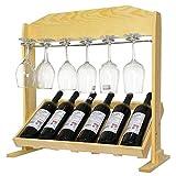 AMY-ZW Portabottiglie da Tavolo - Portabottiglie in Legno Massello - Portabottiglie for Vino da Tavolo - Bar, Cucina, Mobiletto (Color : Clear Color, Size : 62.5x28x60cm)