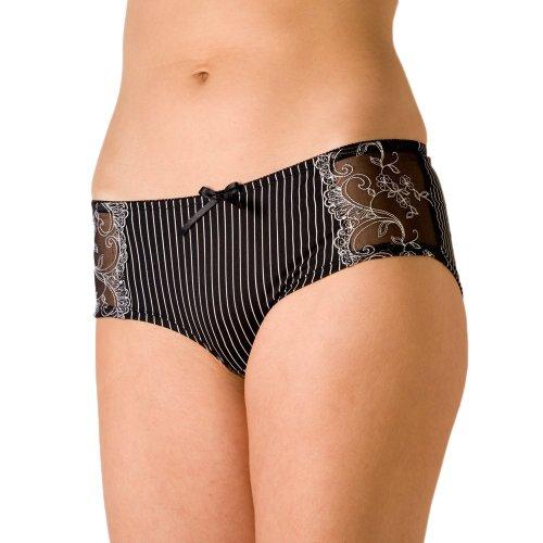 Camille Womens Ladies Underwear Sheer Mesh Satin Boxer Shorts