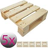 5x Einweg-Palette 40 x 40 cm perfekt für eigene Palettenmöbel Gartenmöbel Europalette Palettensitz ideal für Stuhl Hocker Kommode Beistelltisch