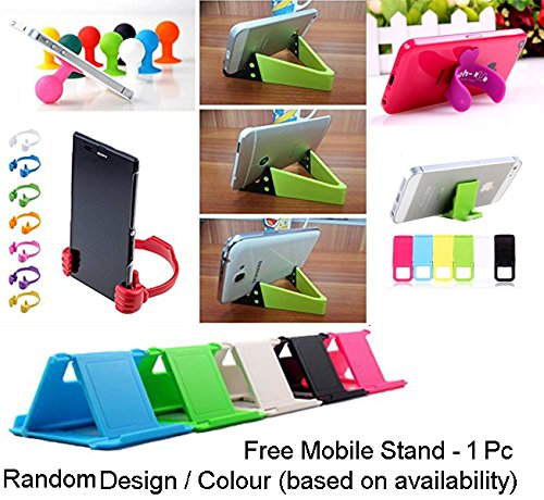 Go Hooked Designer Soft Back cover for Panasonic Eluga A2 + Free Mobile Stand (Assorted Design)