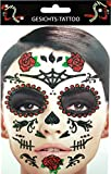 Gesichts Tattoo Face Art Halloween Karneval Day Of Dead-Rose