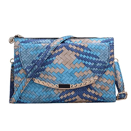 Frauen Messenger Bag Crocodile Umhängetasche Jadegreen