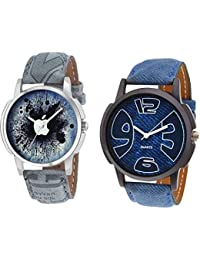 The Shopoholic Combo Latest Fashionable Blue And Black Dial Analog Watch For Boys -Combo Watch Girls And Boys