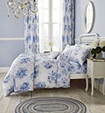 Catherine Lansfield Canterbury Floral Easy Care King Duvet Set Blue