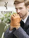 YISEVEN Herren Lederhandschuhe aus Hirschleder mit Lammwolle Futter von Handgenäht