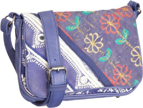 Antik Batik Taiwa1Sbg, Borsa a tracolla donna, 22x17x5 cm (L x A x P), Blu (Blau (Blue)), 22x17x5 cm (L x A x P)