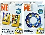 Despicable Me Minions Armbänder & 45cm Swim Ring Set