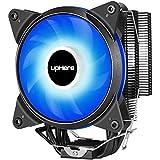 upHere 4 Heatpipes CPU-Kühler mit 120mm PWM Lüfter,LED Bleu/AC12BE