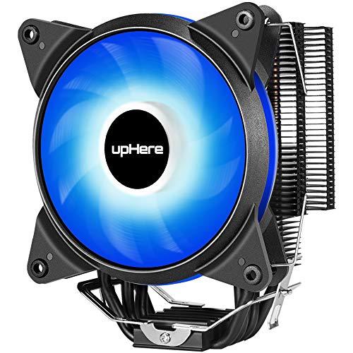 Led-heatpipe (upHere 4 Heatpipes CPU-Kühler mit 120mm PWM Lüfter,LED Bleu/AC12BE)