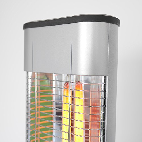 VASNER StandLine Mini 12 Infrarot Stand-Heizstrahler 1200 Watt, silber grau, 2 Stufen, Thermostat, Infrarotstrahler für Terrasse, elektrisch - 2