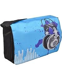 MySleeveDesign – Bolso tipo bandolera de hombro Funda para portátil 13,3 pulgadas / 14 pulgadas / 15,6 pulgadas / 17,3 pulgadas – VARIOS DISEÑOS Y COLORES - Blue Sound [17]