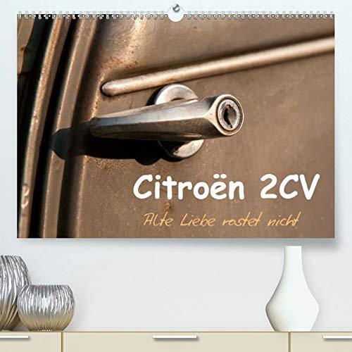 Calvendo Premium Kalender Citroën 2CV Alte Liebe rostet nicht: Ein Citroën 2CV Baujahr 1963 in seiner originalen Patina (hochwertiger DIN A2 Wandkalender 2020, Kunstdruck in Hochglanz)