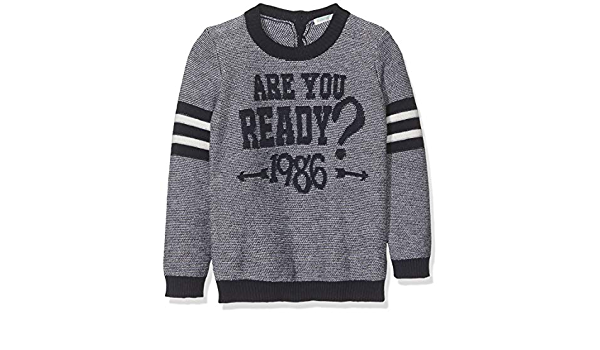 United Colors of Benetton Baby-Jungen Maglia Girocollo Pullover Intarsio Ready College Langarmshirt