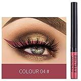 Aolvo Eyeliner Eaterproof Liquido Eye Liner Professionale/Eyeshadow Waterproof Glitter Liquid Eyeliner/Occhio Ombra Trucco Ombretto palette ideale regalo