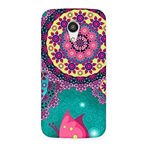 Delighted Vintage Round Pattern Multicolor Back Case Cover for Moto G 2nd Gen