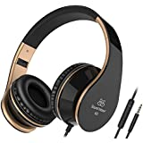 Sound Intone Foldable, Stretchable 3.5mm Headphones, Headsets for PC, Android Smartphones, Iphone, Ipad, Ipod, Samsung, MP3, MP4, MP5 Player (Black)