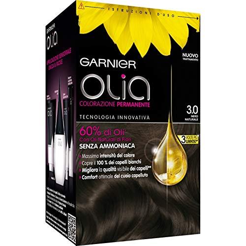Garnier Olia Colorazione Permanente senza Ammoniaca, Migliora la Qualità dei Capelli, Copre i Capelli Bianchi, 7.3 Biondo Dorato
