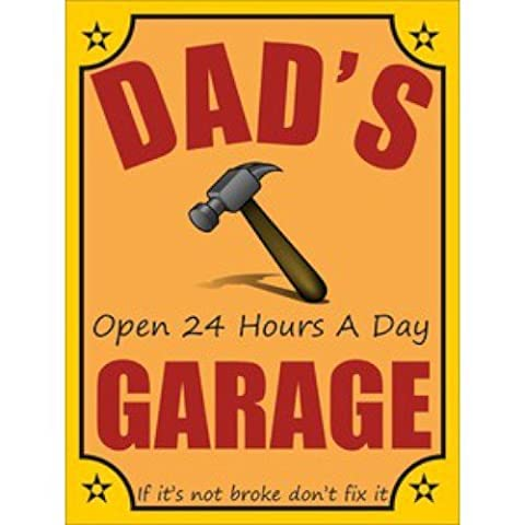 Dad's Garage Open 24 Hours A Day Mini Hanging Sign Dad's garage open 24 hours a day Mini Hanging Sign by GiftRush
