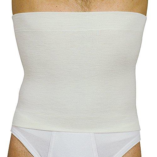 Manifattura bernina elan 500631 (taglia 3) - pancera termica fascia vita in lana e cotone colore bianco altezza 31