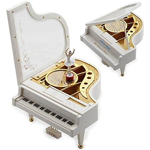 Sidiou Group Creativas del regalo del día Laputa Piano Muchachas de baile de San Valentín que giran la caja de música mecánica vendimia clásica preciosa muchacha de la bailarina Octava Musical