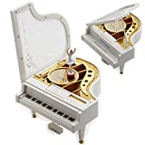 Sidiou Group Regalo creativo Laputa Giorno Piano Dancing Girls San Valentino rotante Music Box Vintage meccanica classica bella Ballerina ragazza Octave Musical Box