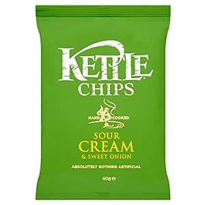 Kettle Chips - Crème sure et oignon doux (150g) - Paquet de 6