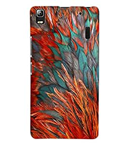 ColourCraft Feathers Design Back Case Cover for LENOVO A7000 TURBO
