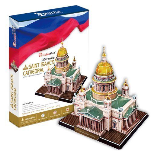 Saint Isaacs Cathedral 3D Puzzle. St. Petersburg Russia Beautiful Elegant Decoration for Home/Office by CubicFun - Elegante Home Office