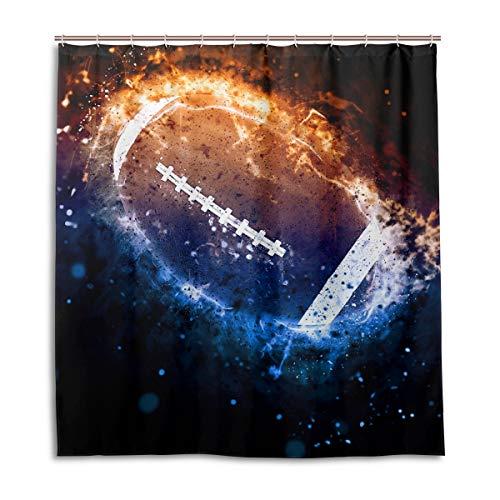 vinlin Space America - Cortina de Ducha Impermeable para balón de fútbol, 167,64 x 182,88 x 182,88 cm, poliéster, 66x72 Inch