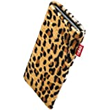 fitBAG Bonga Leopard Handytasche Tasche aus Fellimitat mit Microfaserinnenfutter für LG G3S / LG G3 Beat
