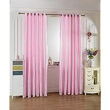 100x250cm Cortinas de Ventana Jacquard Habitación Estor Ciego Golpe Moderna Color Rosa