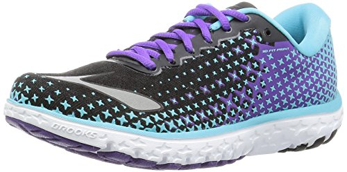 Brooks Pureflow 5, Scarpe Running Donna, Multicolor (Blue Fish/Black/Electric Purple), 36 EU