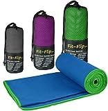 Купить Fit-Flip Microfaser Handtücher in 3 Größen und 18 Farben – Ultra Leicht und Kompakt