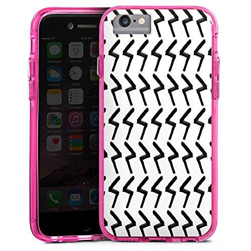 Apple iPhone 8 Bumper Hülle Bumper Case Glitzer Hülle Black Jack Abstract Abstrakt Bumper Case transparent pink