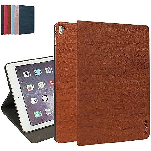 iPad Pro 9.7 Custodia, MTRONX Smart Cover Case Peso Leggero Ultra Sottile Foglio Multi-Angolo PU Pelle Copertura Auto Sonno / Sveglia per Apple iPad Pro 9.7 pollici (2016 modello) - Marrone (WS-BN)