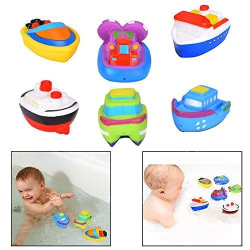 Itian Barcos flotantes - Juguetes de baño, Barco de Baño Juguetes de Bañera para Bebés,...