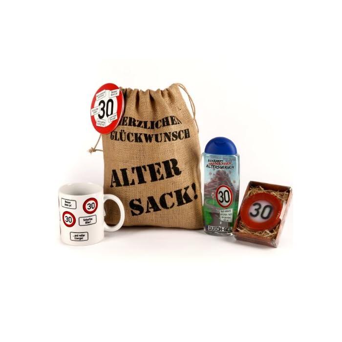 Lustapotheke® Geschenkset - Verkehrszeichen - zum 30. Geburtstag (5-teilig)