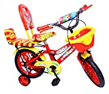 #6: NY Bikes Steel Delux 14T Kids' Bicycle, 14 Inches (Red and Yellow)