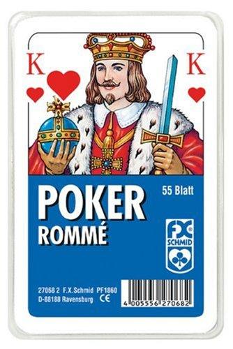 Ravensburger 27068 - Poker, Französisches Bild - 55 Blatt, glasklaes Etui (Fun Card Decks Playing)