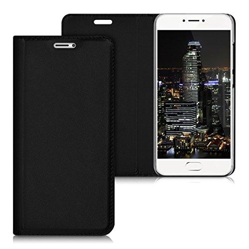 kwmobile Meizu Pro 6 / 6S Hülle - Kunstleder Handy Schutzhülle - Flip Cover Case für Meizu Pro 6 / 6S