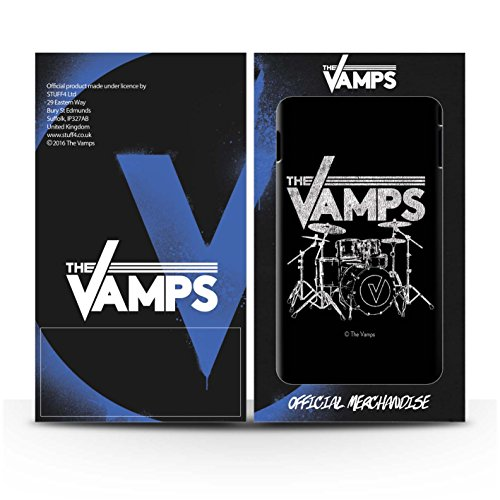 Offiziell The Vamps Hülle / Matte Harten Stoßfest Case für Apple iPhone 5/5S / Pack 6pcs Muster / The Vamps Graffiti Band Logo Kollektion Schlagzeug