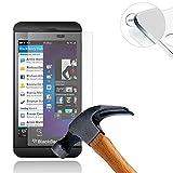 Lusee BlackBerry Z10 Protection écran en Verre Trempé ULTRA RÉSISTANT INDICE Dureté 9H Haute transparence( plus dure que un couteau) – il est vendu avec un torchon de nettoyage et alcool isopropilique