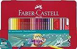 Faber-Castell 115933 - Aquarellbuntstifte, 48er, Metalletui