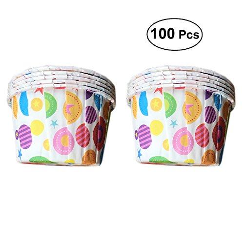 bestonzon 100Stern Dot Cupcake-Backförmchen Muffin Wrapper-Liners Kuchen Fällen Form - Dots Cupcake Liner