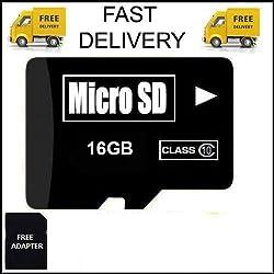 16 GB Micro SD Card TF Flash Memory MicroSD Micro SDHC Class 10 Free Adapter (16GB SD CARD)
