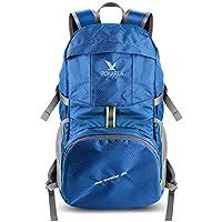 Pokarla Plegable Duradera Mochila de Viaje de Viaje 35L Ultra Ligero de empaquetado Continuar día Mochila Unisex al Aire Libre Azul
