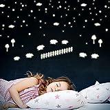 Wandkings Gute-Nacht-Schäfchen, Schafe zählen zum Einschlafen, 144 Sticker, extra starke Leuchtkraft, Wandsticker Leuchtaufkleber, Fluoreszierend und im Dunkeln leuchtend
