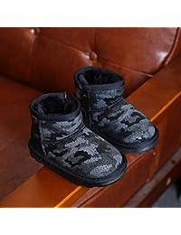 Zapatos para Niños Zapatos de Invierno para Niños Y Niñas Botas para Niños Botas de Algodón Antideslizantes Y Acolchadas,UN,28