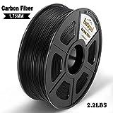 Carbon Fiber 3D Printer Filament,Filament 3D Printing Materials,Extremely Rigid 3D Printer Filament,Dimensional Accuracy 1.75mm+/-0.02mm,1KG (2.2 lb) Spool Black